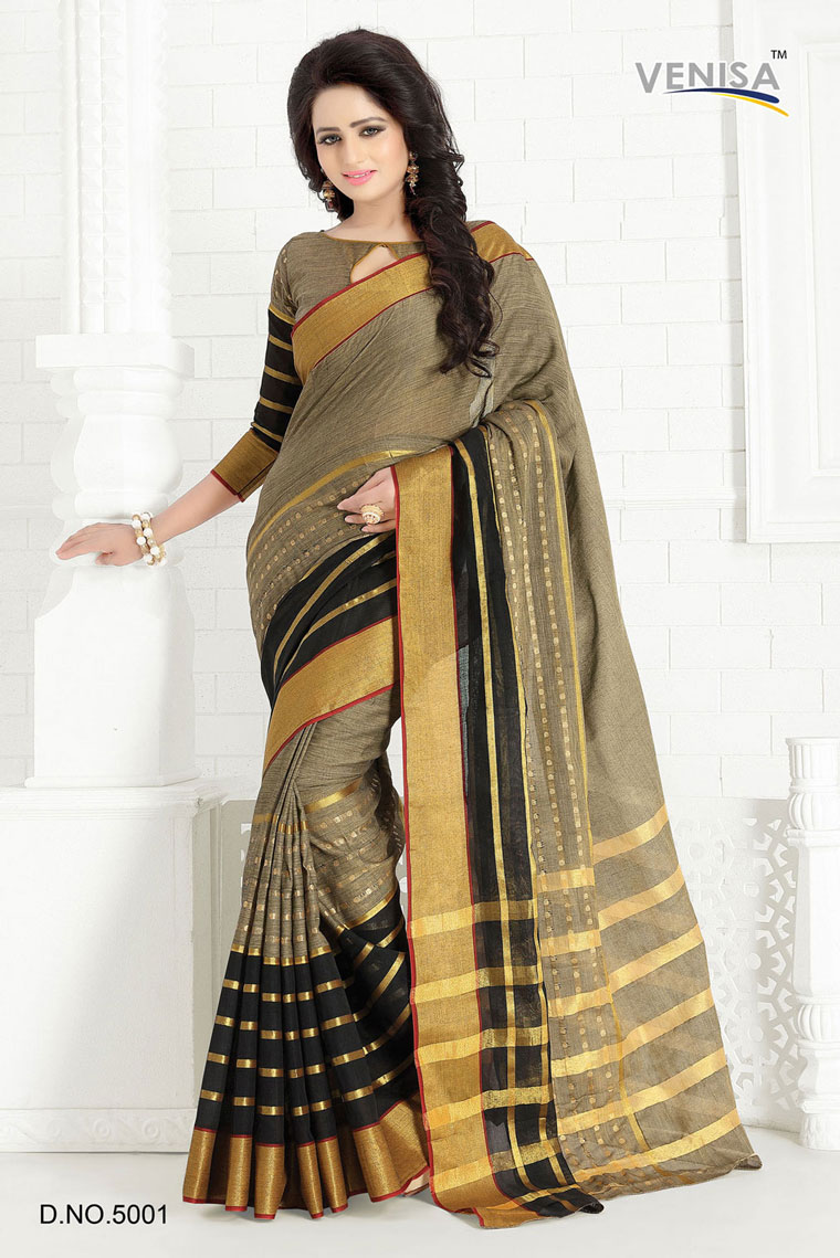 Ruchi – Mercerized Cotton Fabric Printed Saree