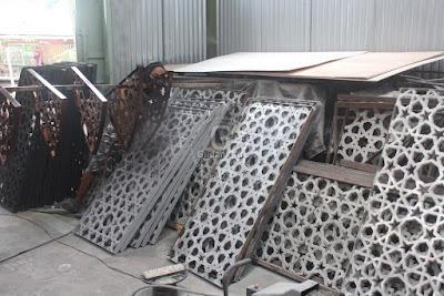 Ornamen Masjid Cor Aluminium