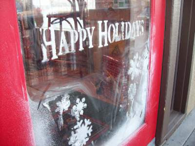 spiritual holidays, window painting,