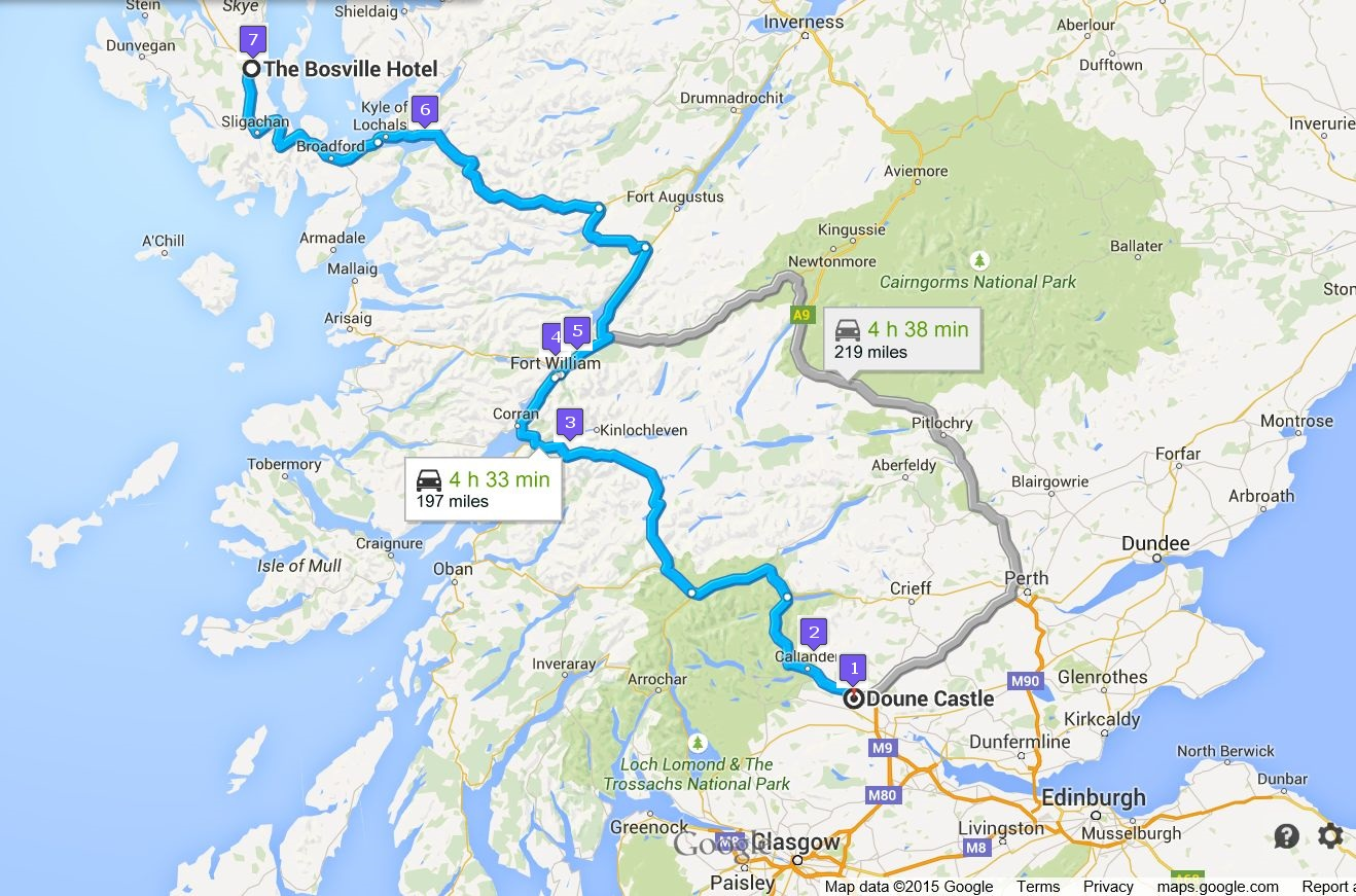 Itinerary for Rabbie's Tour of Scottish Western Highlands - Day 3