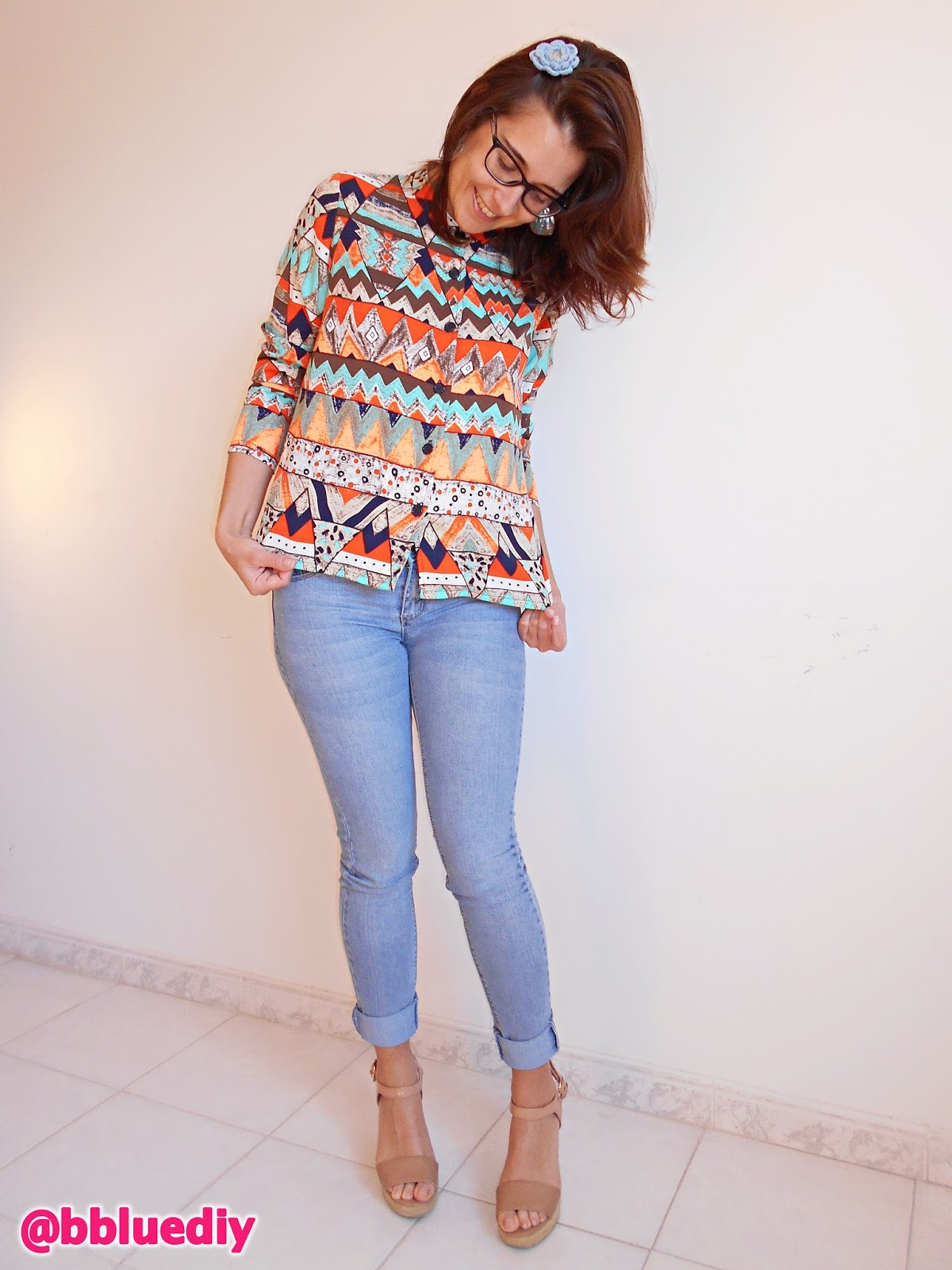Blusa con patrón / Blouse with pattern