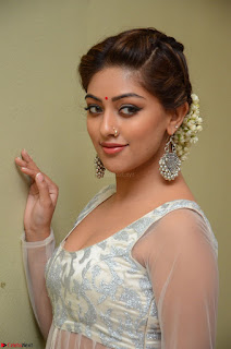 Anu Emmanuel in a Transparent White Choli Cream Ghagra Stunning Pics 079.JPG