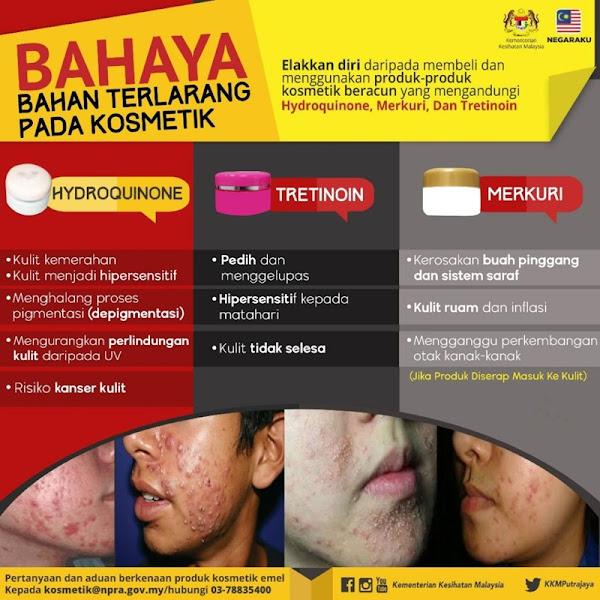 kesan sampingan kosmetik racun berjadual