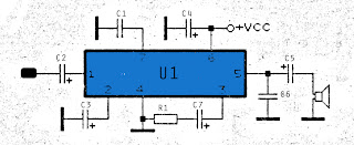 TA7066 amplifier circuit