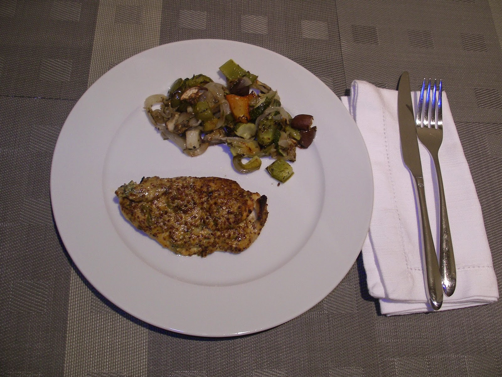 Roasted Mustard Lime Chicken Breast