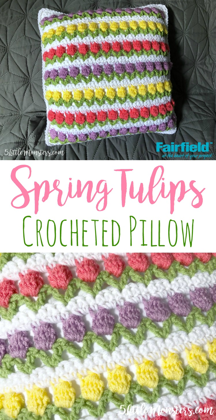 5 Little Monsters: Spring Tulips Pillow