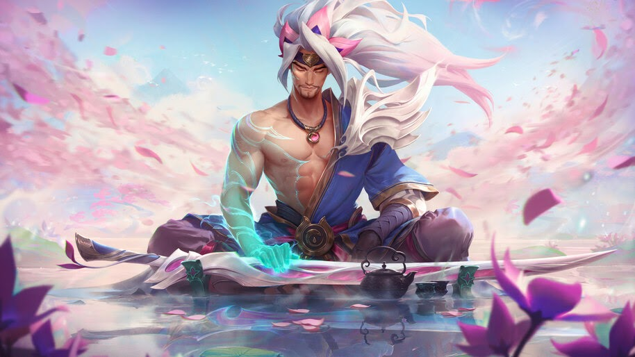 Spirit Blossom, Yasuo, LoL, Splash Art, 8K, #3.2288