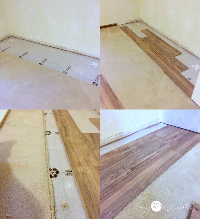 laying laminate in closet floor