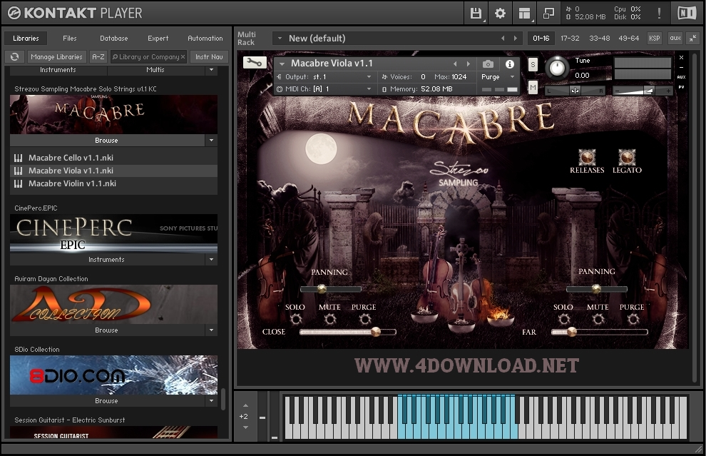 Strezov Sampling - MACABRE Solo Strings v1.1 KONTAKT Library