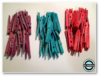 Photo of dyed clothespins