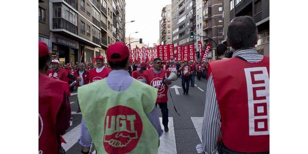 UGT y CCOO sindicatos españoles de clase