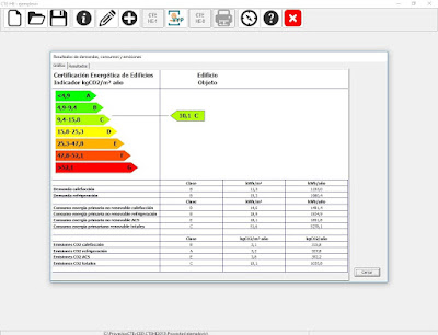 Resultados de Certificación energética con HULC