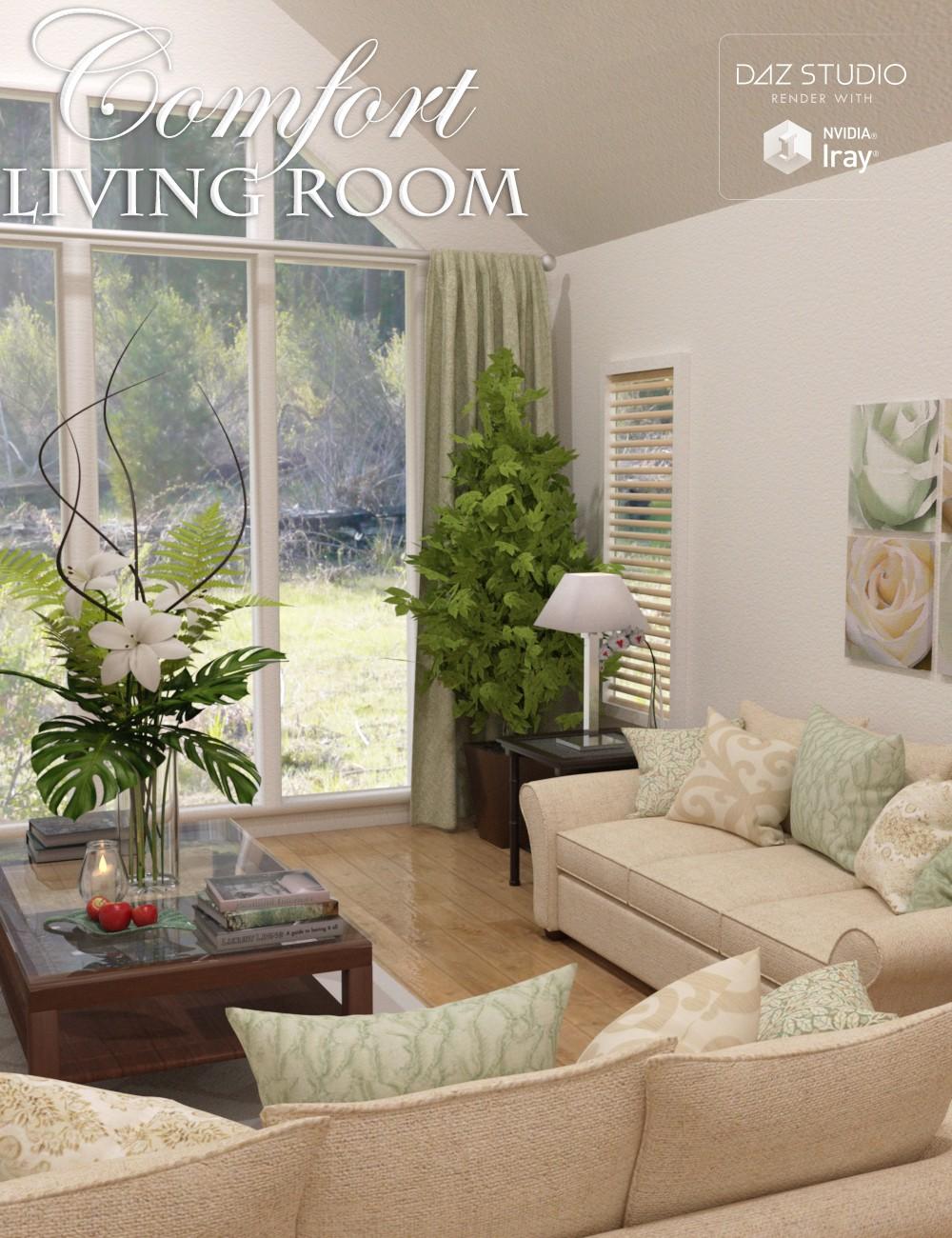 Download daz studio 3 for free daz 3d comfort living room for Living room 2 for daz studio
