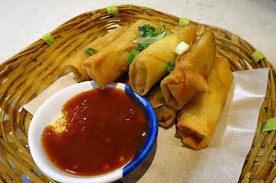 Kra Pow Thai Restaurant, spring rolls