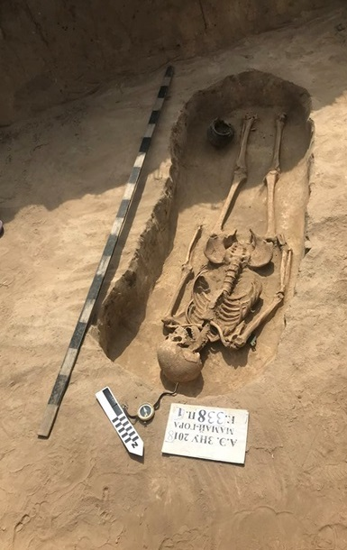 Sarmatian burial discovered in southeastern Ukraine
