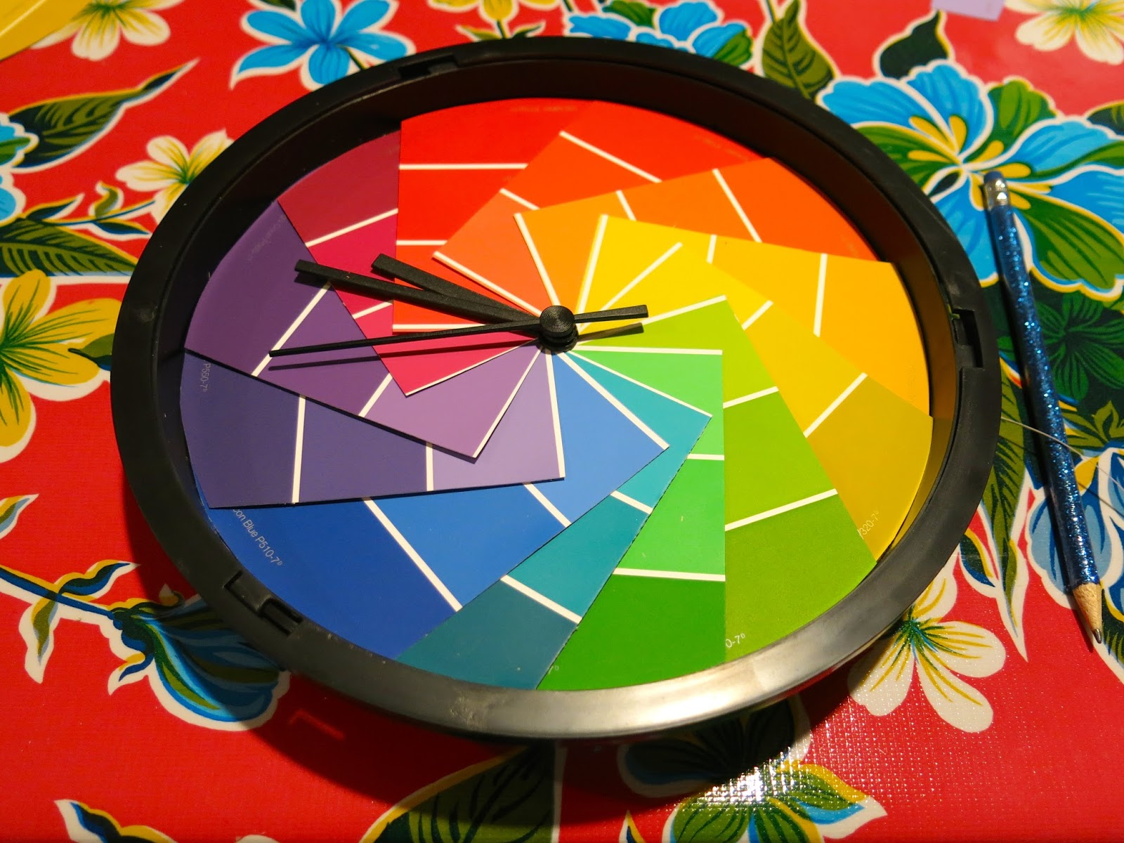 Color wheel art projects for kids - Diy A Color Wheel Clock