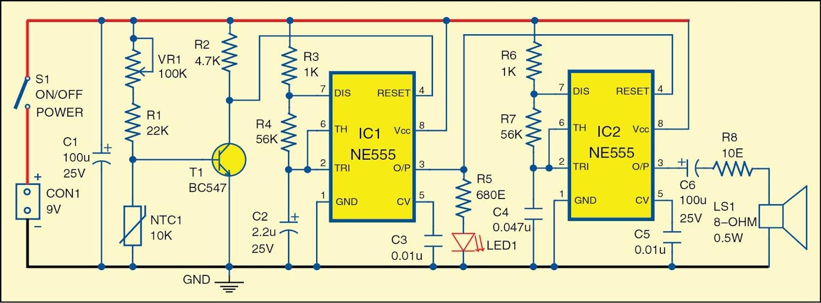 medium resolution of fire alarm using thermistor kitszone com