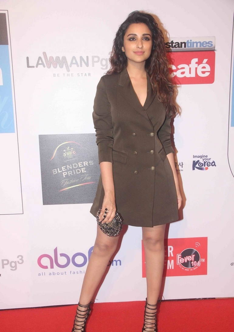 Parineeti Chopra Photos In Green Dress At Hindustan Times Most Stylish Awards