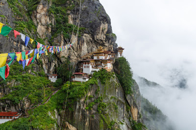 Bhutan Buddhist Mystery Land With Himalayas Around Refereed As Land of Thunder Dragons