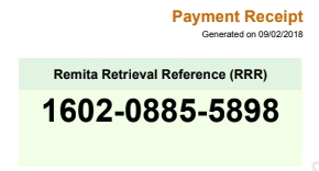 what is the meaning of Remita Retrieval Reference