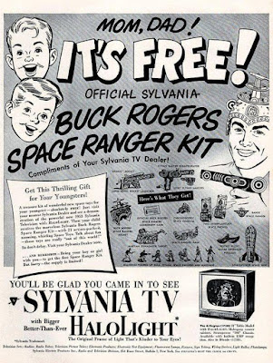 Sylvania TV HaloLight with Buck Rogers Space Ranger Kit