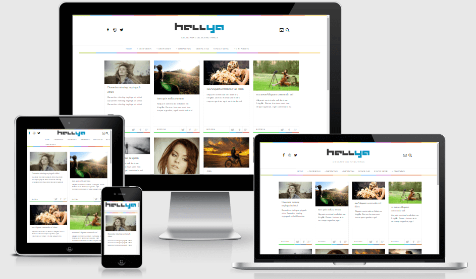 Download Hellya Responsive Minimalist Blogger Template