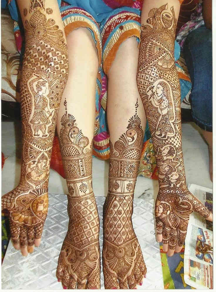 Indian Bridal Henna Designs: Fresh And Beautiful Bridal Indian Mehndi Designs For Full