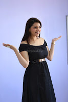 Mannara Chopra in Short Off Shoulder Black Dress ~  Exclusive 011.JPG
