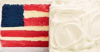 ice cream flag cake