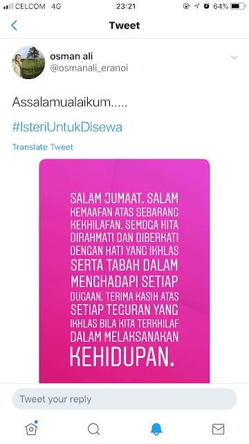 Osman Ali pengarah drama isteri untuk disewa