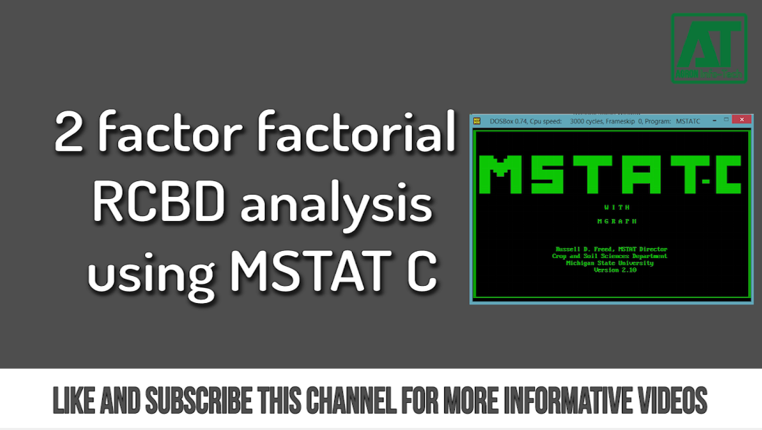 Data analysis with MSTATC