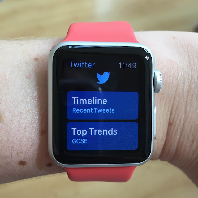 Apple Watch twitter menu