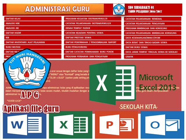 Aplikasi Administrasi Guru Format Excel Versi Baru