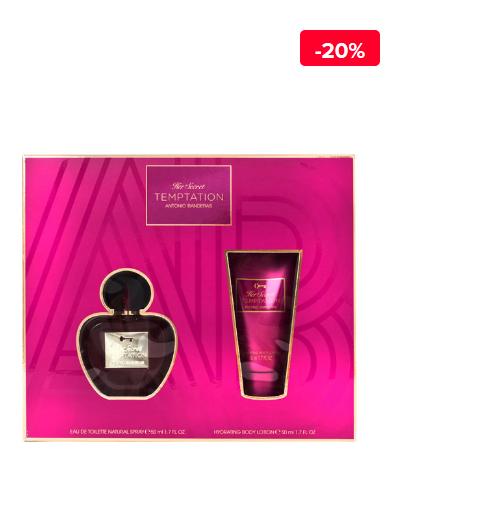 Set cadou Antonio Banderas Her Secret Temptation (Apa de toaleta 50 ml + Lotiune de corp 50 ml), Pentru Femei