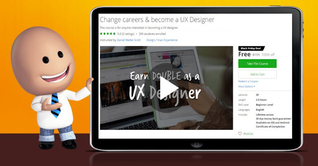 [100% Off] Change careers & become a UX Designer| Worth 195$