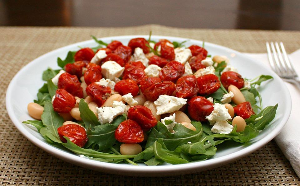 roasted tomato goat cheese salad