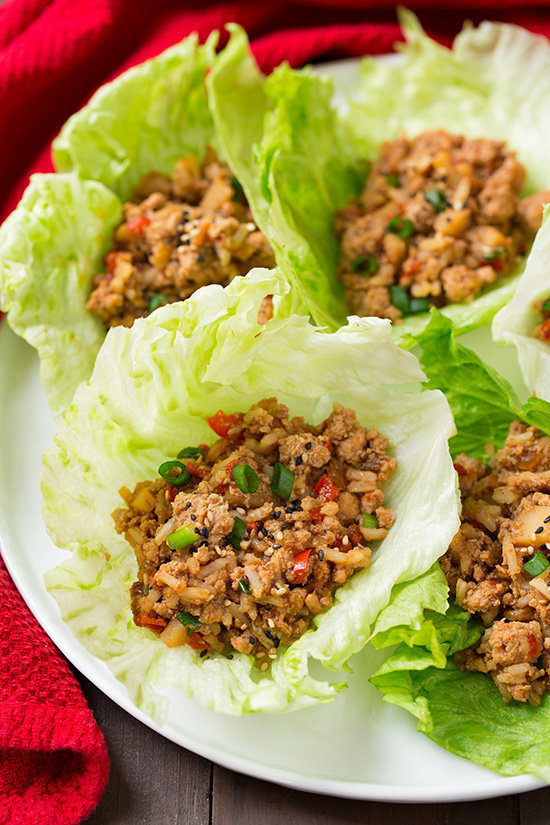 Slow Cooker Asian Chicken Lettuce Wraps - Muddlex