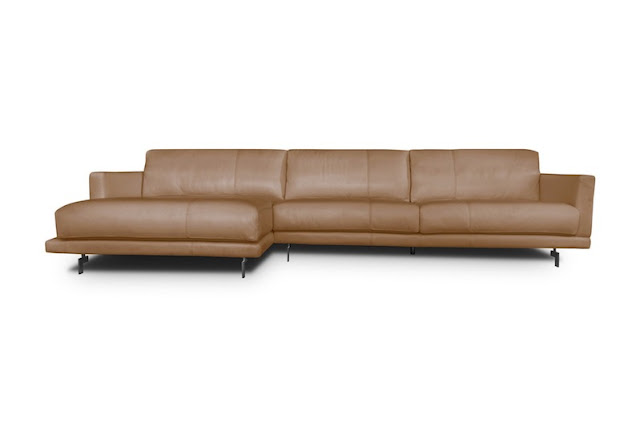 sofa con chaise longue color tostado relikua chicanddeco
