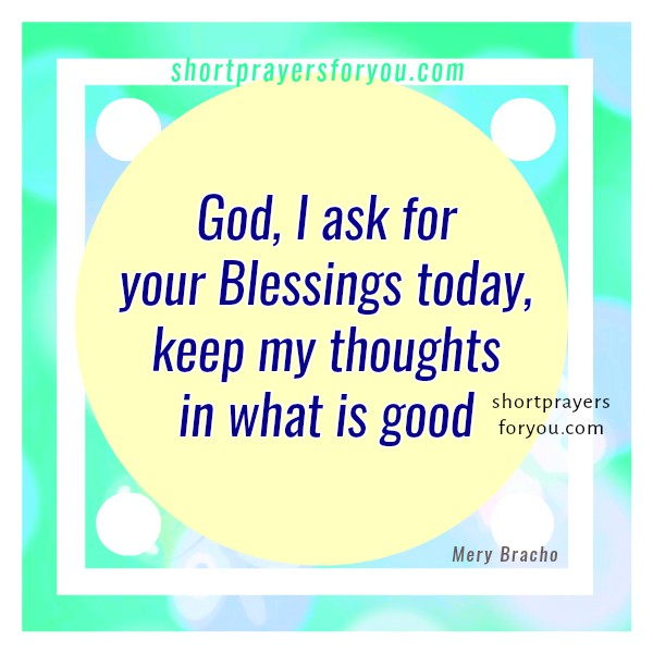 Short prayer for facebook, good morning prayer with christian image by Mery Bracho.
