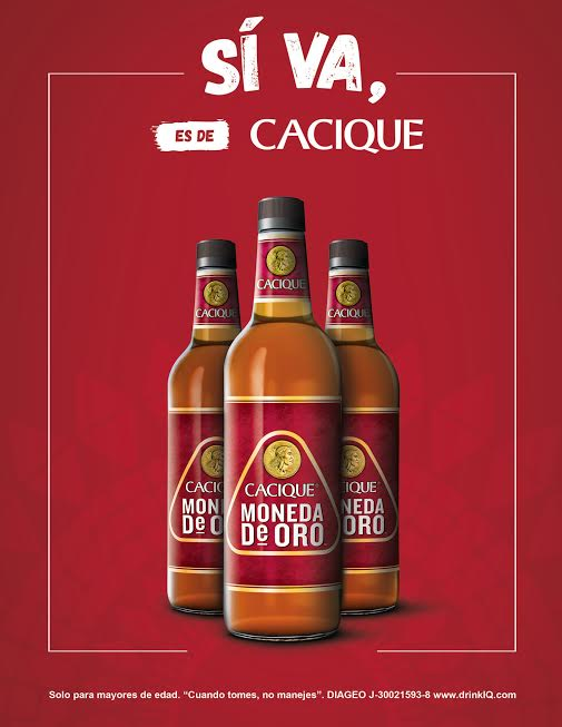 licor cacique moneda de oro