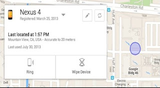 Now you can track a device with Google Android Device Manager.