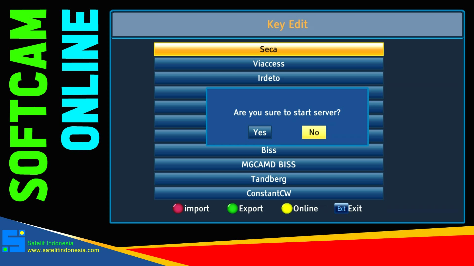 Cara Import Softcam Key Skybox A1 New Plus dari Internet