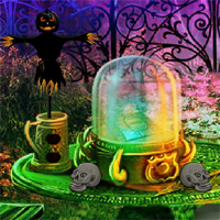 Play 8BGames Halloween Garden Escape