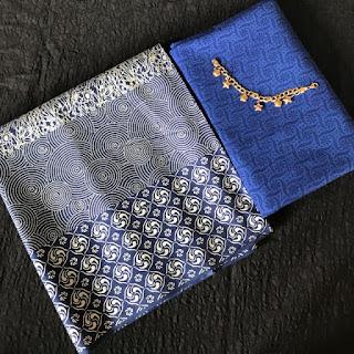 Kain Batik dan Embos 632 Biru