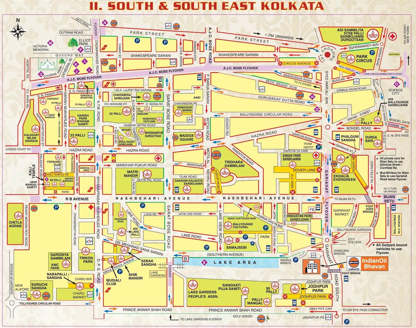 durga puja   maps  location  kolkata  top pandals of last  - south  south east kolkata download photo