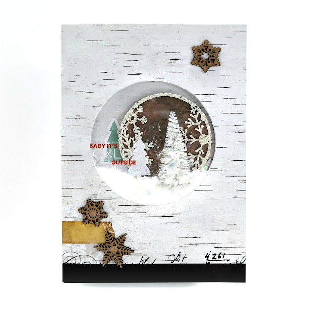 Baby It's Cold Outside Winter Artist Trading Coin Shaker Card