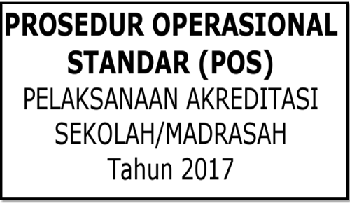POS Akreditasi Sekolah Madrasah 2017