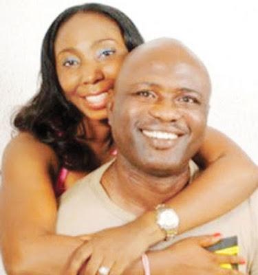 Lekan Shonde & wife Ronke embrace
