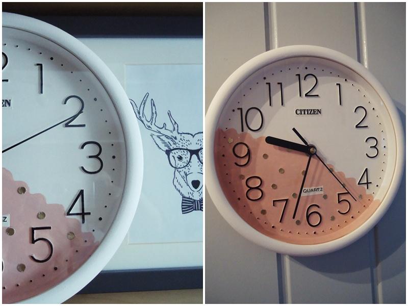 pomalowałam stary zegar