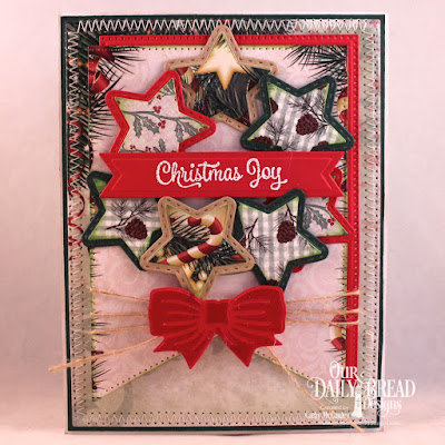 ODBD Products:  Stamp Set: Christmas Card Verses  Paper Collection: Christmas Collection 2017  Custom Dies: Sparkling Stars, Double Stitched Stars, Pierced Rectangles, Large Banners, Pennant Flags, Christmas Bells, Pierced Circles